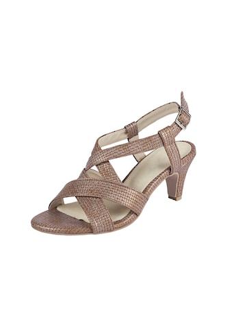 Sandalette mit gekreuzten Riemen kaufen
