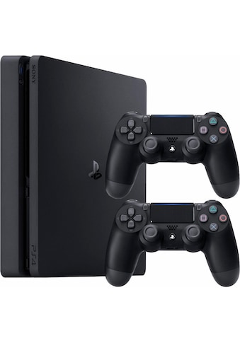 PlayStation 4 Slim (Bundle, inkl. 2 PlayStation 4 Wireless DualShock Controller) kaufen