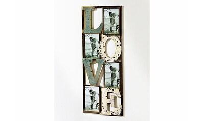 locker Wandbild »Schriftzug Love«, Wanddeko, Bilderrahmen, für 4 Fotos kaufen