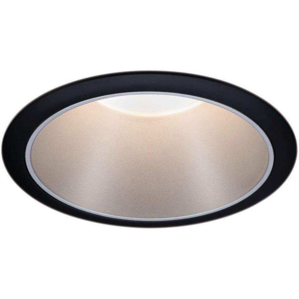 Paulmann LED Einbauleuchte »3er Set Cole 3x6,5W Schwarz/Silber matt 3-Stufen-dimmbar 2700K Warmweiß«, Warmweiß