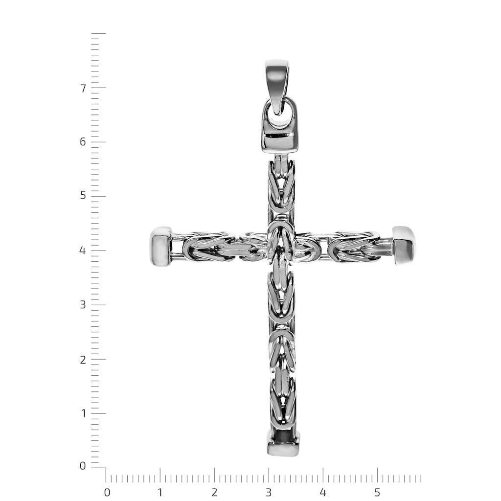 Firetti Kreuzanhänger »in glanzvoller Königsketten-Optik, 75 mm lang, 4-kant, massiv«, Made in Germany