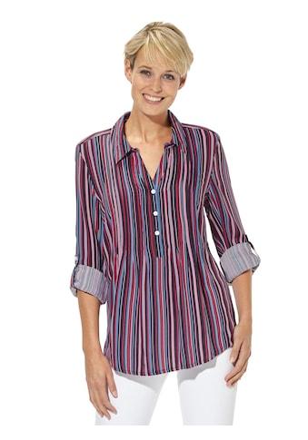 Casual Looks Bluse mit streckenden Längsstreifen kaufen
