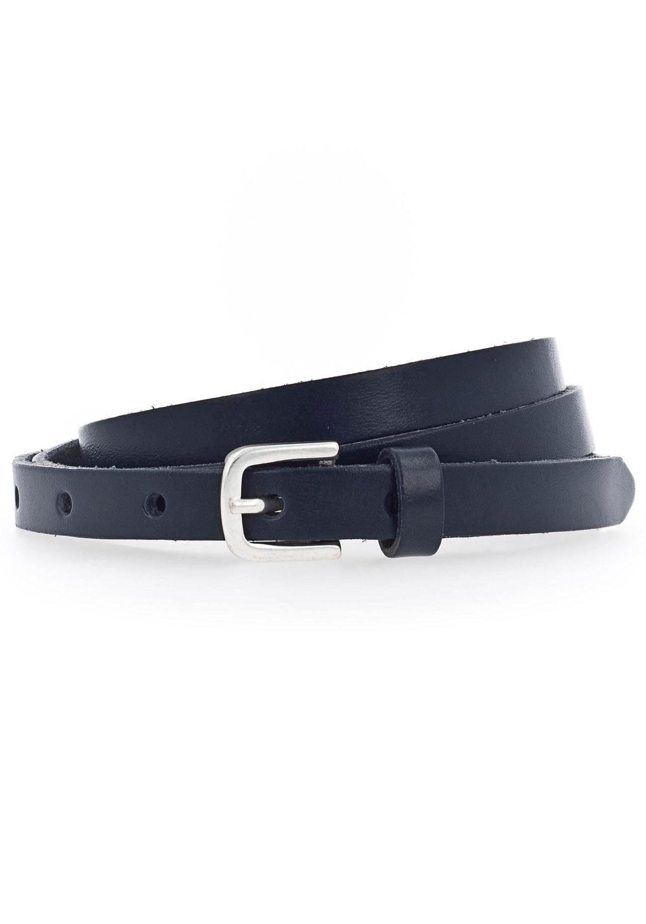 Vanzetti Ledergürtel, Überlänge, lässige Spitze zum Knoten blau Damen Ledergürtel Gürtel Accessoires