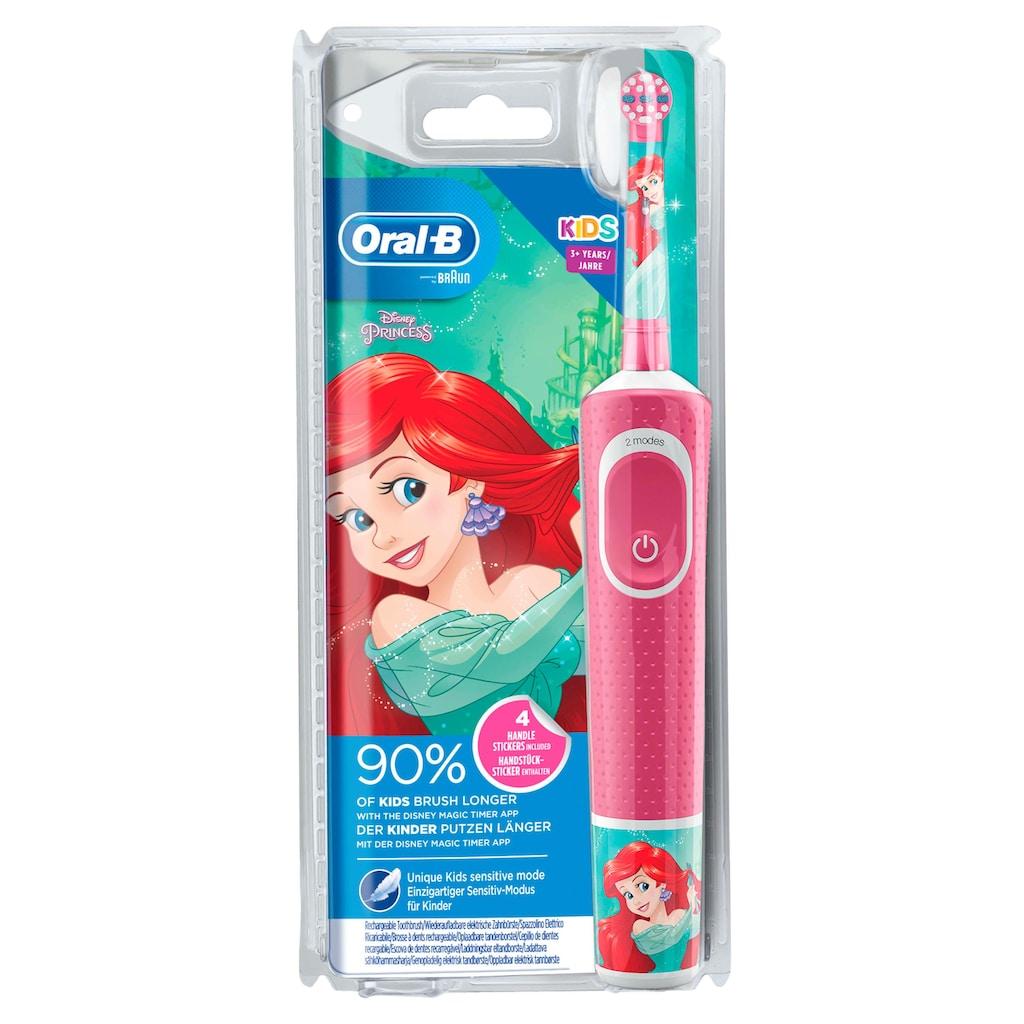 Oral B Elektrische Kinderzahnbürste »Disney Princess«, 1 St. Aufsteckbürsten