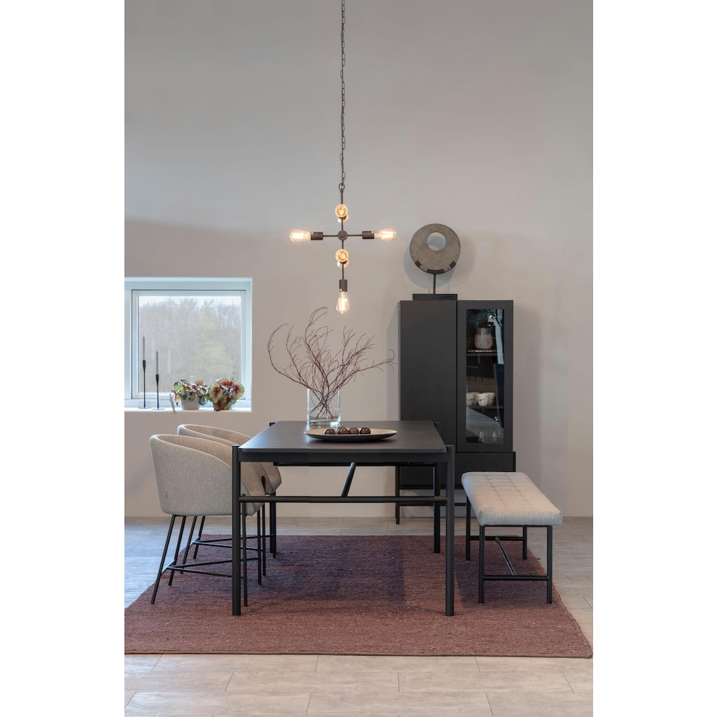 andas Sitzbank »Senta«, mit schönem Webstoff Bezug und einem Metallbeingestell, Breite 160 cm