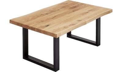 MCA furniture Couchtisch »Havanna«, Wohnzimmertisch Massivholz mit Baumkantenoptik kaufen