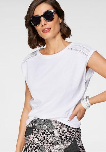 Boysen's T-Shirt, mit Spitzeneinsatz an der Schulter kaufen
