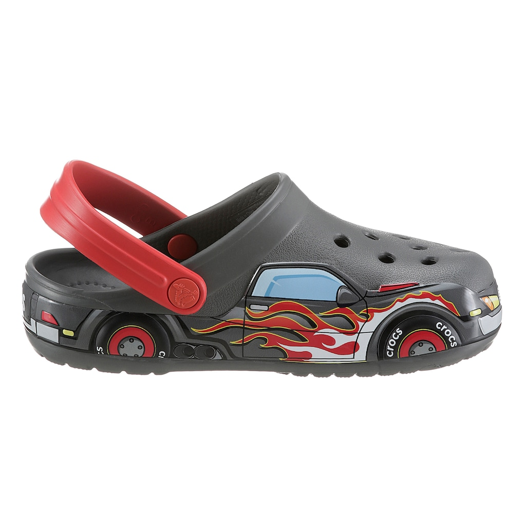 Crocs Clog »Slate Grey FL Truck Band Clog K«, mit coolen Flammen-Druck