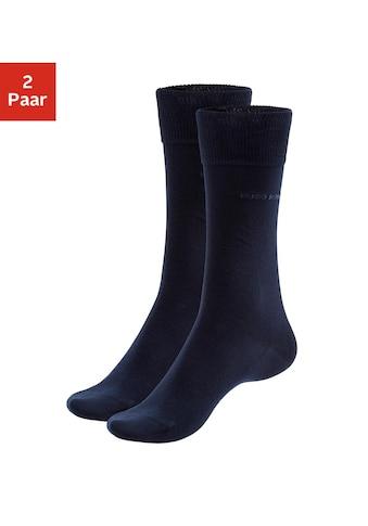 Boss Socken »2P RS Uni«, (2 Paar), mit gerippten Bündchen kaufen