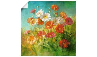 Artland Wandbild »Gemalte Gänseblümchen«, Blumen, (1 St.), in vielen Größen &... kaufen