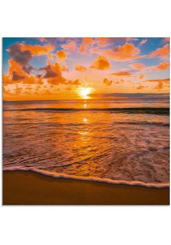 Artland Glasbild »Schöner tropischer Sonnenuntergang am Strand«, Sonnenaufgang &... kaufen