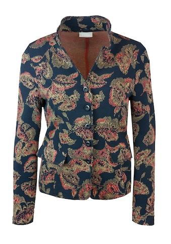 bianca Kurzjacke »JOALINA«, aus stretchigem Jersey mit floralem Jaquardmuster kaufen