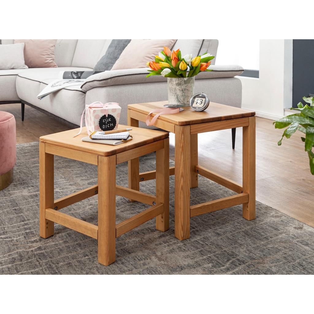 Premium collection by Home affaire Beistelltisch »Lisa«, (Set, 2 St.), aus Massivholz, hochwertig verarbeitet