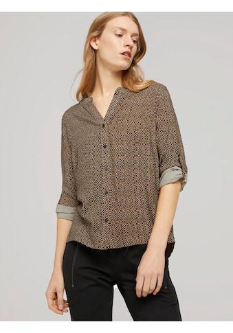 TOM TAILOR Shirtbluse »Bluse mit Ärmel Turn-Up« kaufen