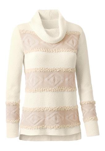 Pullover aus flauschigem Effektgarn und Jacquardmuster kaufen