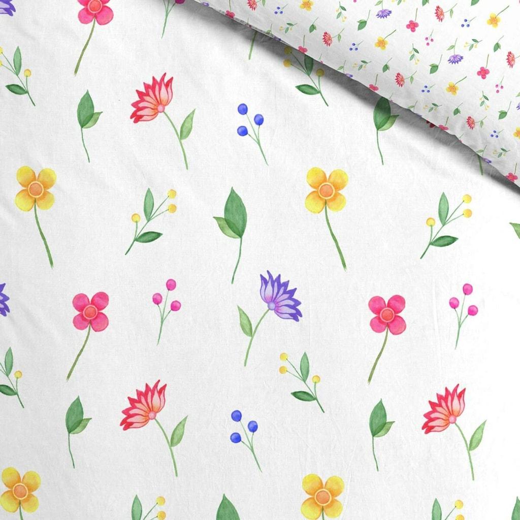 TRAUMSCHLAF Bettwäsche »Blumengarten«, Sommerbettwäsche mit romantischem Design