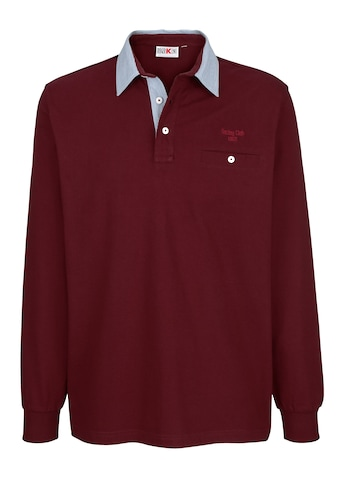 Roger Kent Poloshirt mit gestreiftem Webkragen kaufen