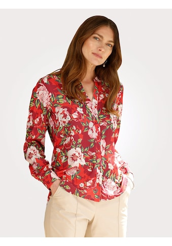 Mona Satinbluse, mit farbbrillantem Floraldruck kaufen