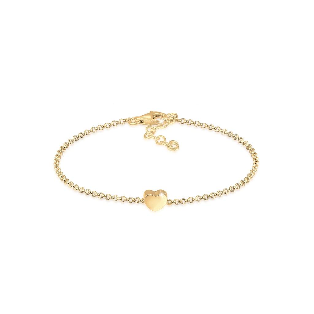 Elli Armband »Armkette Herz Love Basic 925 Silber«