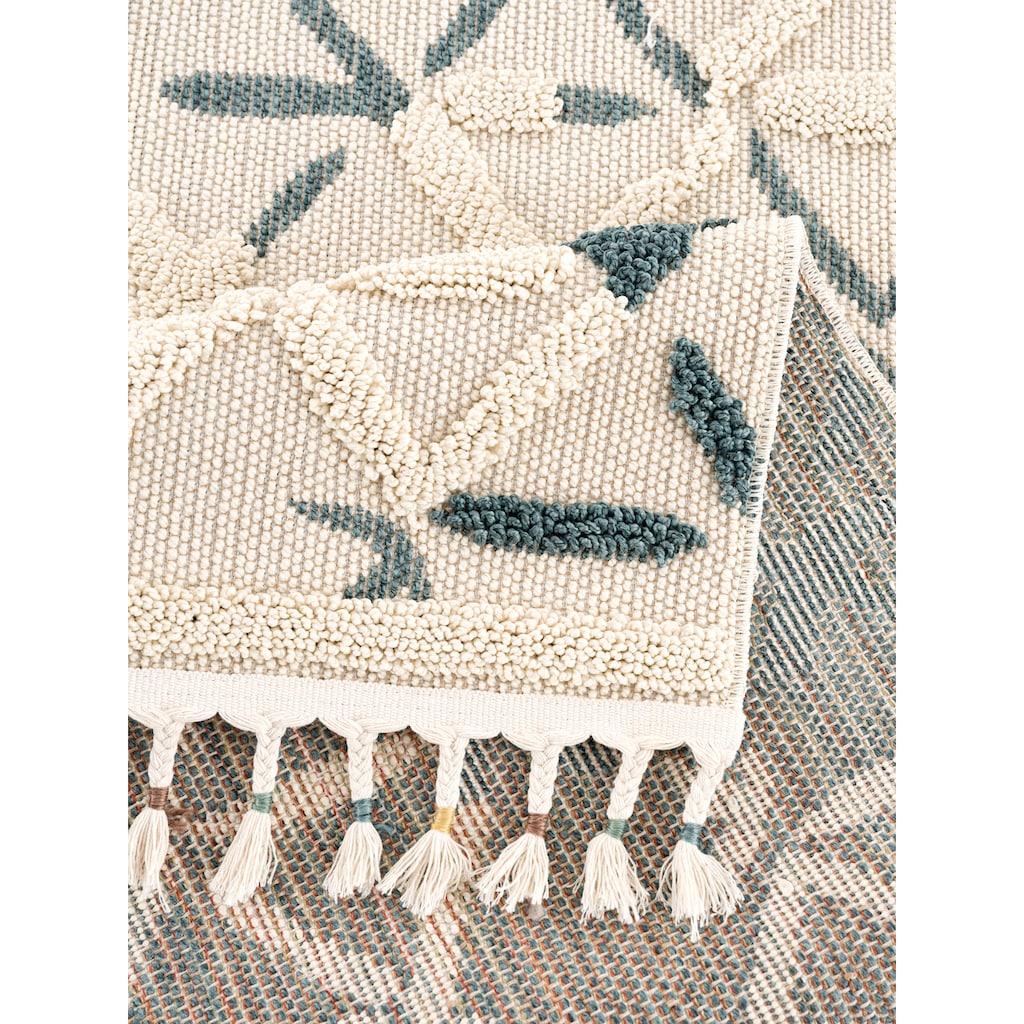 andas Teppich »Tabea«, rechteckig, 18 mm Höhe, Woll-Look, Wohnzimmer