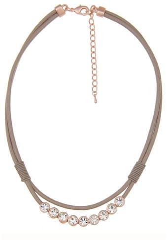 leslii Halskette im Glitzer-Lederlook kaufen