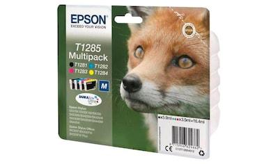 Epson Tintenpatrone »T1285 Multipack (bl/c/m/y) M DURABRITE ULTRA INK - C13T12854012 -« kaufen