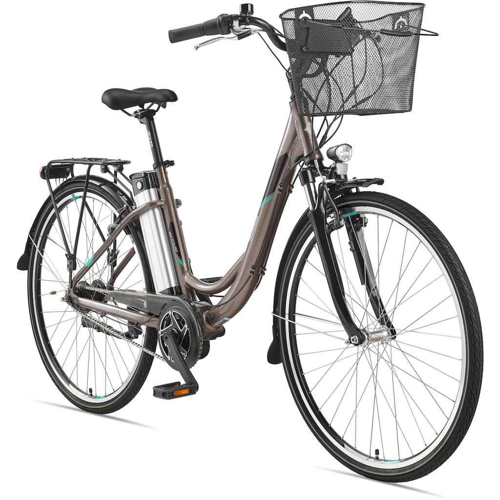 Telefunken E-Bike »Multitalent RC870«, 7 Gang, Shimano, Shimano Nexus 7-Gang-Nabe, Mittelmotor 250 W, (mit Fahrradkorb)