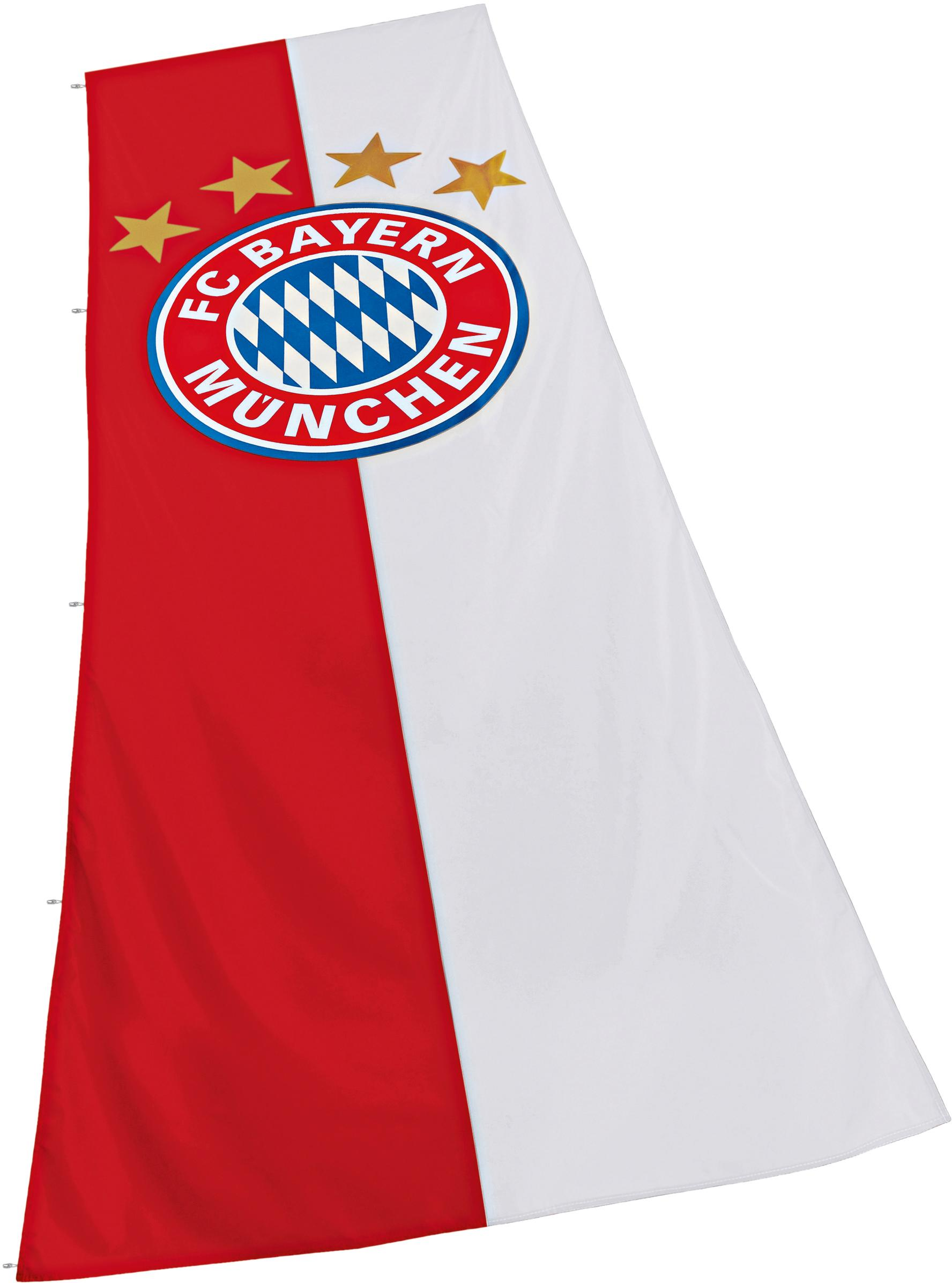 FC Bayern Fahne München Hissfahne mit Logo rot Kinder Bundesliga-Fanshop Fanartikel Fahnen