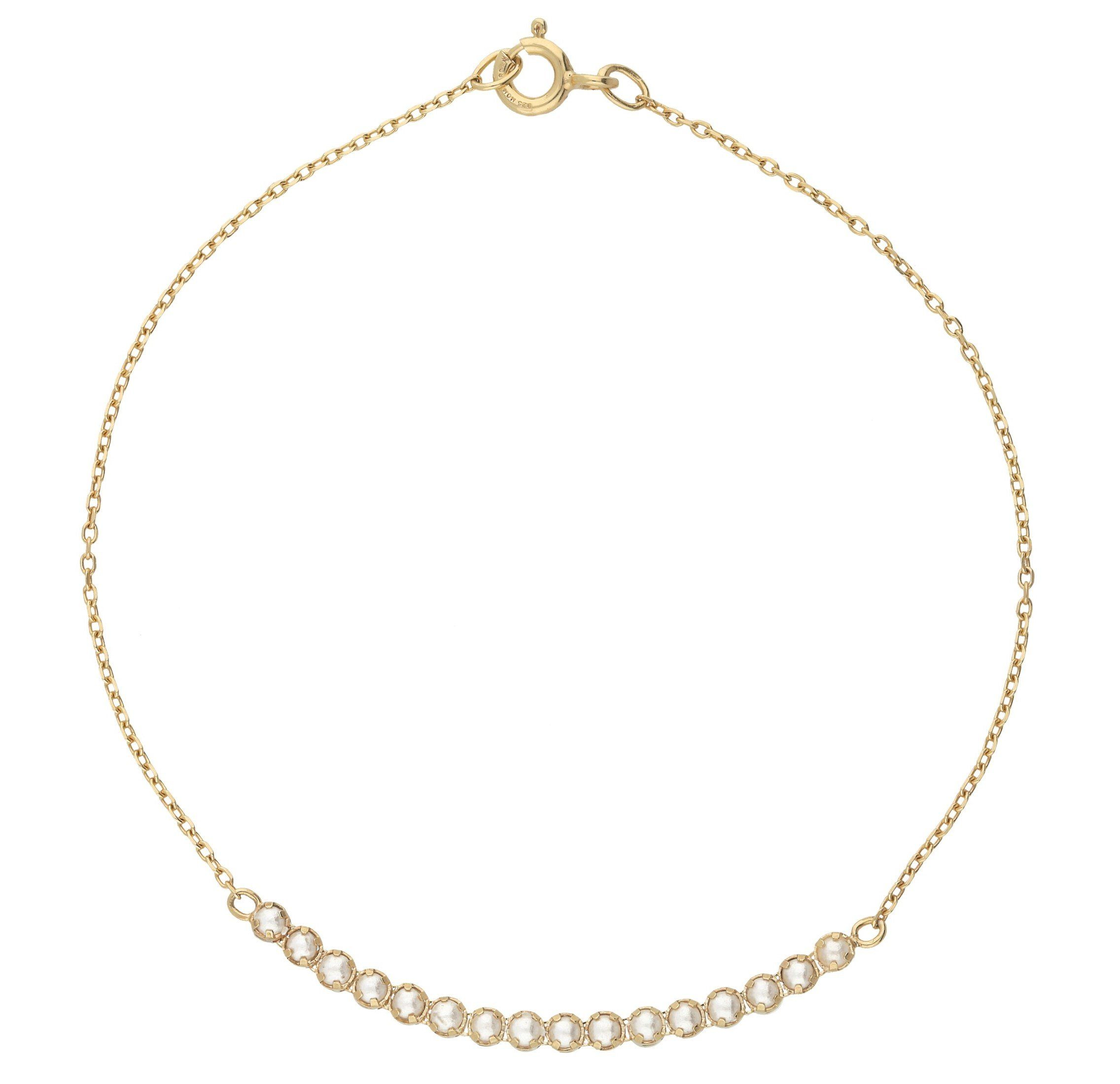 Vivance Armband Bridge-Tennisarmband Swarovski Perlen   Schmuck > Armbänder > Perlenarmbänder   Vivance