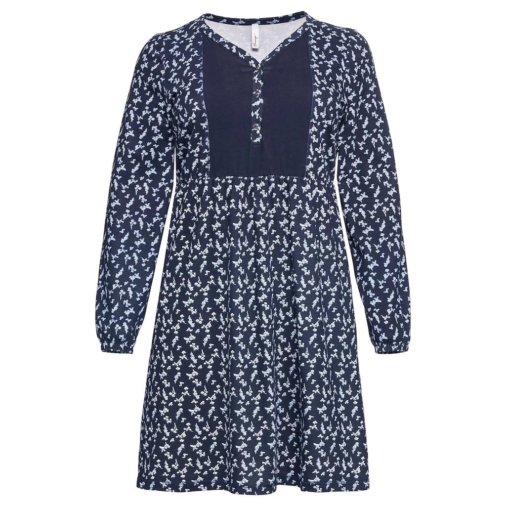 Sheego Jerseykleid, aus leichter Baumwollqualität