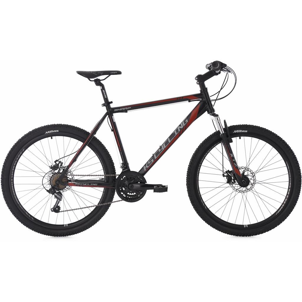 KS Cycling Mountainbike »Sharp«, 21 Gang, Shimano, Tourney Schaltwerk, Kettenschaltung