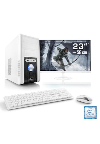 "CSL Gaming PC Set | Core i3 - 8100 | GTX 1050 Ti | 8 GB DDR4 | 23"" TFT »Speed T5956 Windows 10 Home« kaufen"