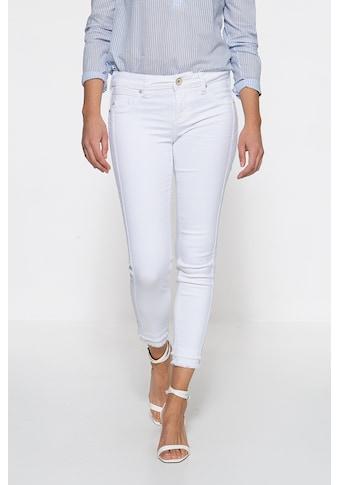 ATT Jeans Slim-fit-Jeans »Belinda«, mit offenen Saumkanten kaufen