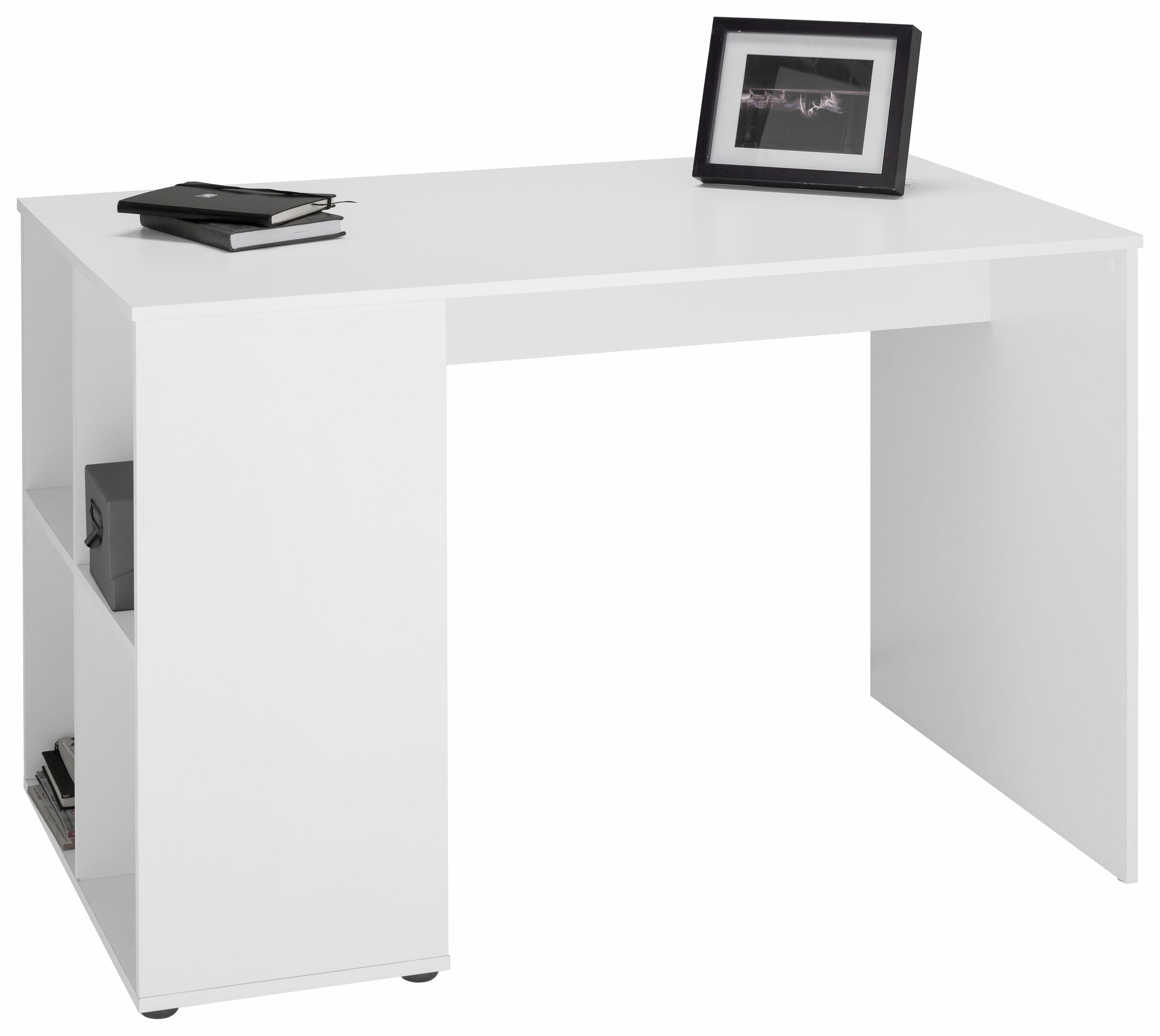 FMD Schreibtisch Gent mit 4 seitlichen Fächern
