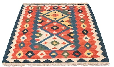 morgenland Wollteppich »Kelim Fars Teppich handgewebt orange«, rechteckig, 4 mm Höhe,... kaufen