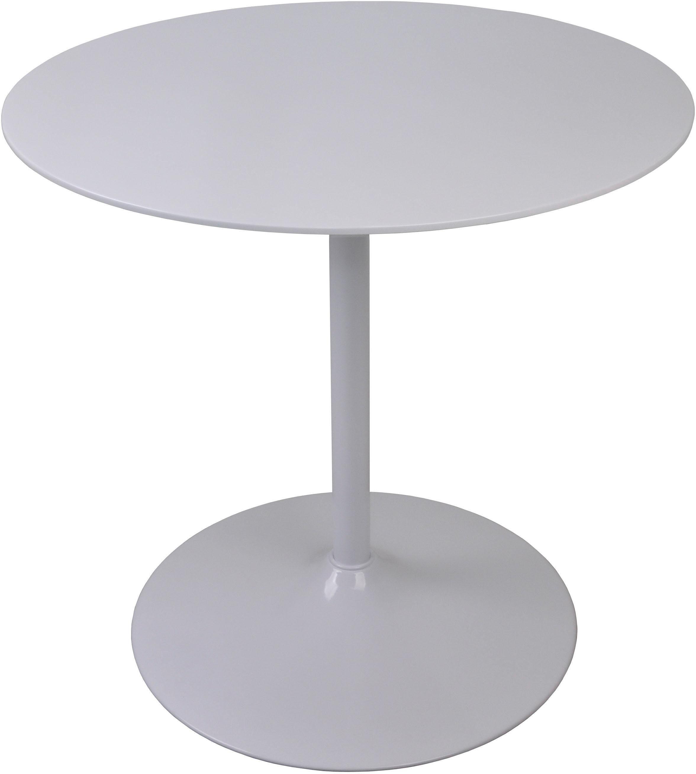 SalesFever Esstisch, rund, Bistro Tisch, Tulpentisch weiß Esstisch Esstische rund oval Tische