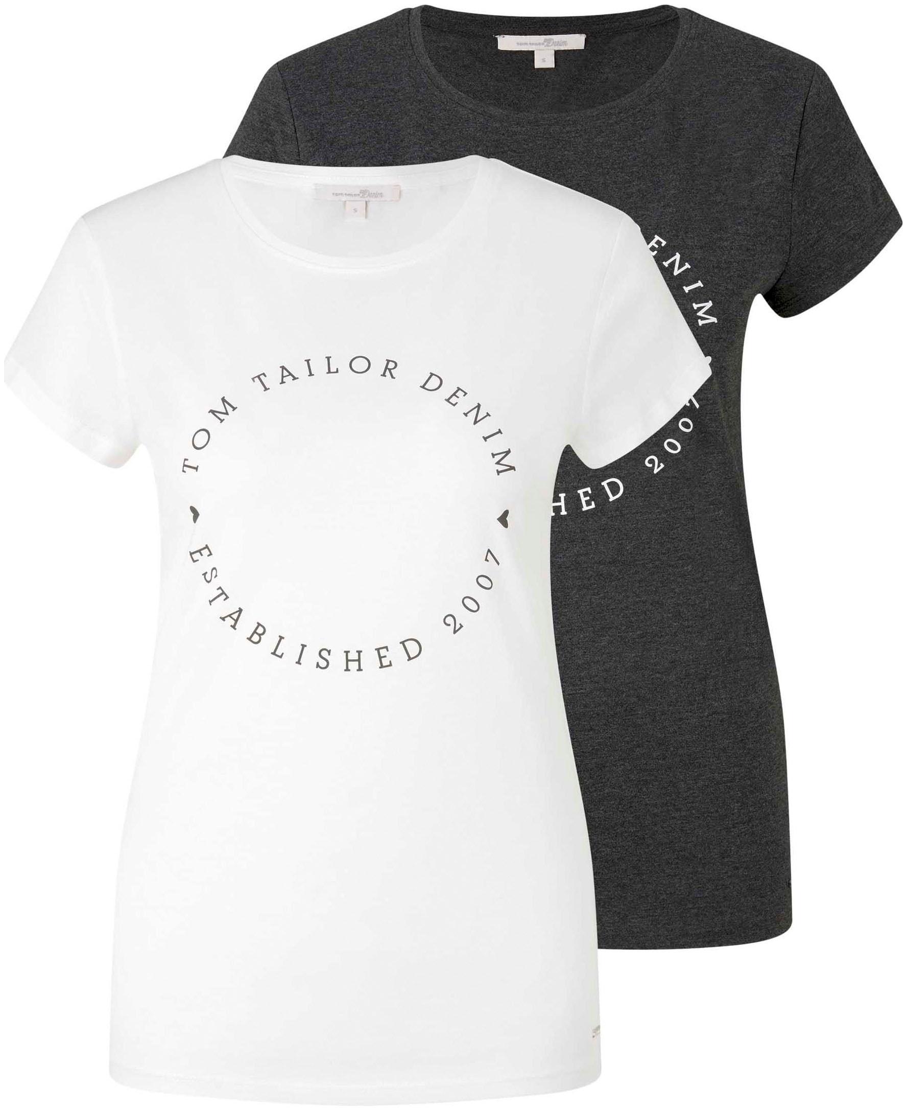 tom tailor denim -  T-Shirt, mit Logo Aufdruck