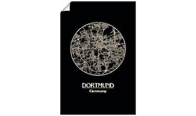 Artland Wandbild »Retro Karte Dortmund Deutschland Kreis« kaufen