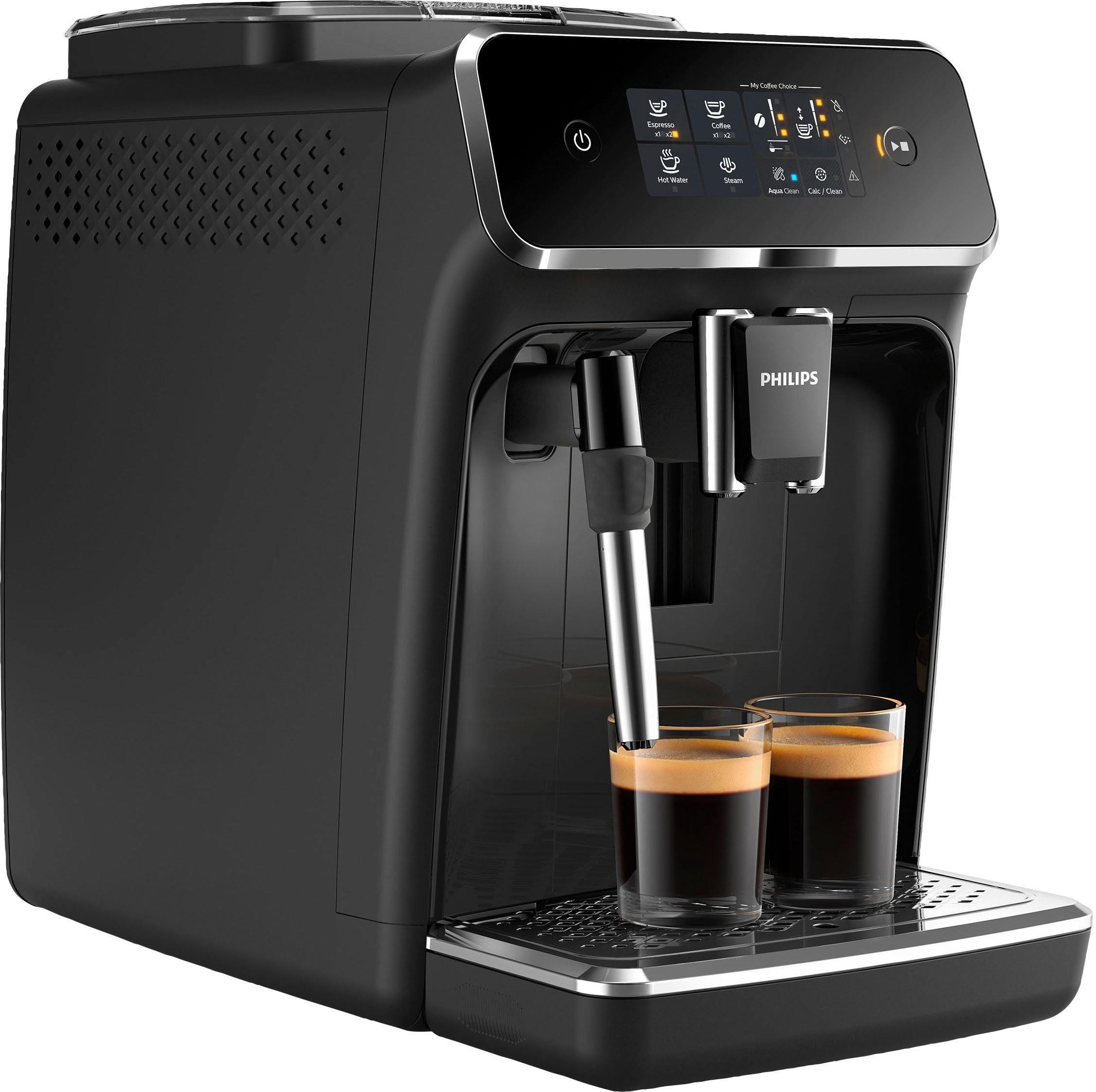Philips Kaffeevollautomat 2200 Serie EP2221 40 Pannarello, klavierlackschwarz