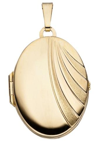 JOBO Medallionanhänger »Medaillon«, oval 333 Gold kaufen