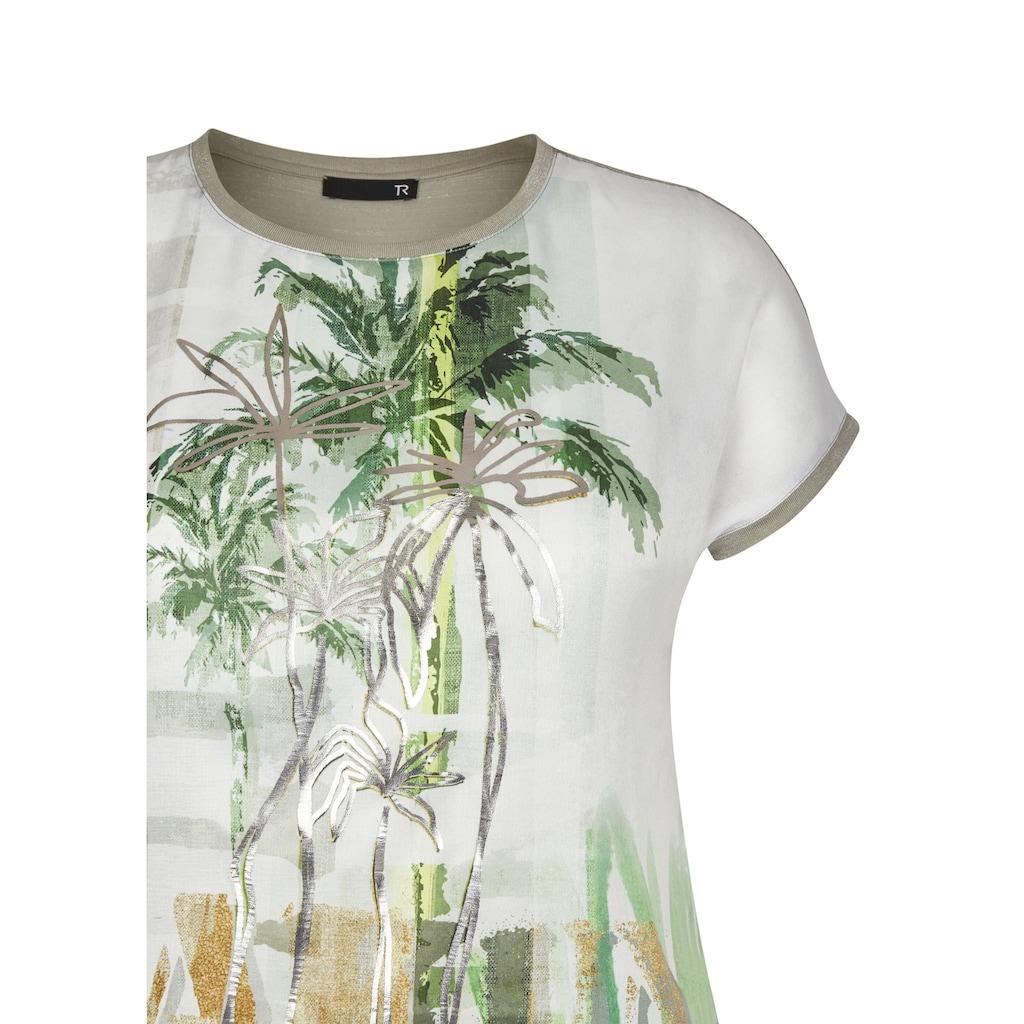 Thomas Rabe T-Shirt, mit abstraktem Muster und überschnittenen Schultern