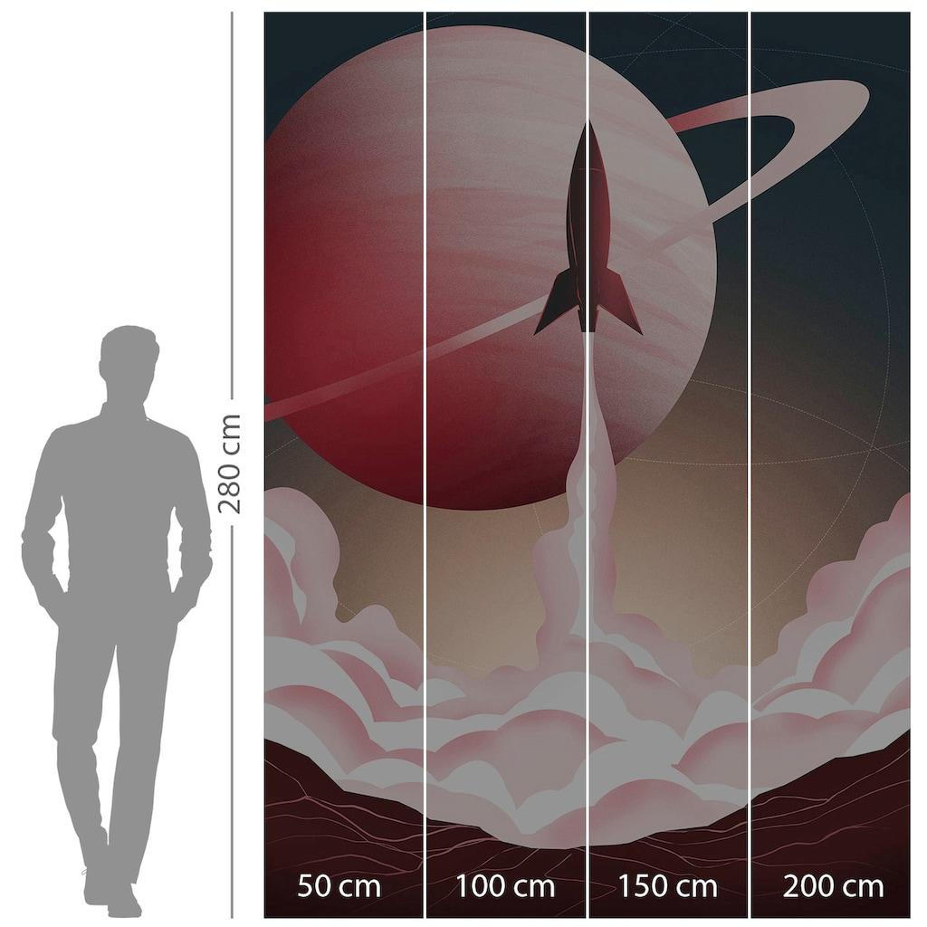 Komar Fototapete »Explore the Universe«, bedruckt-Comic-Retro-mehrfarbig, BxH: 200x280 cm