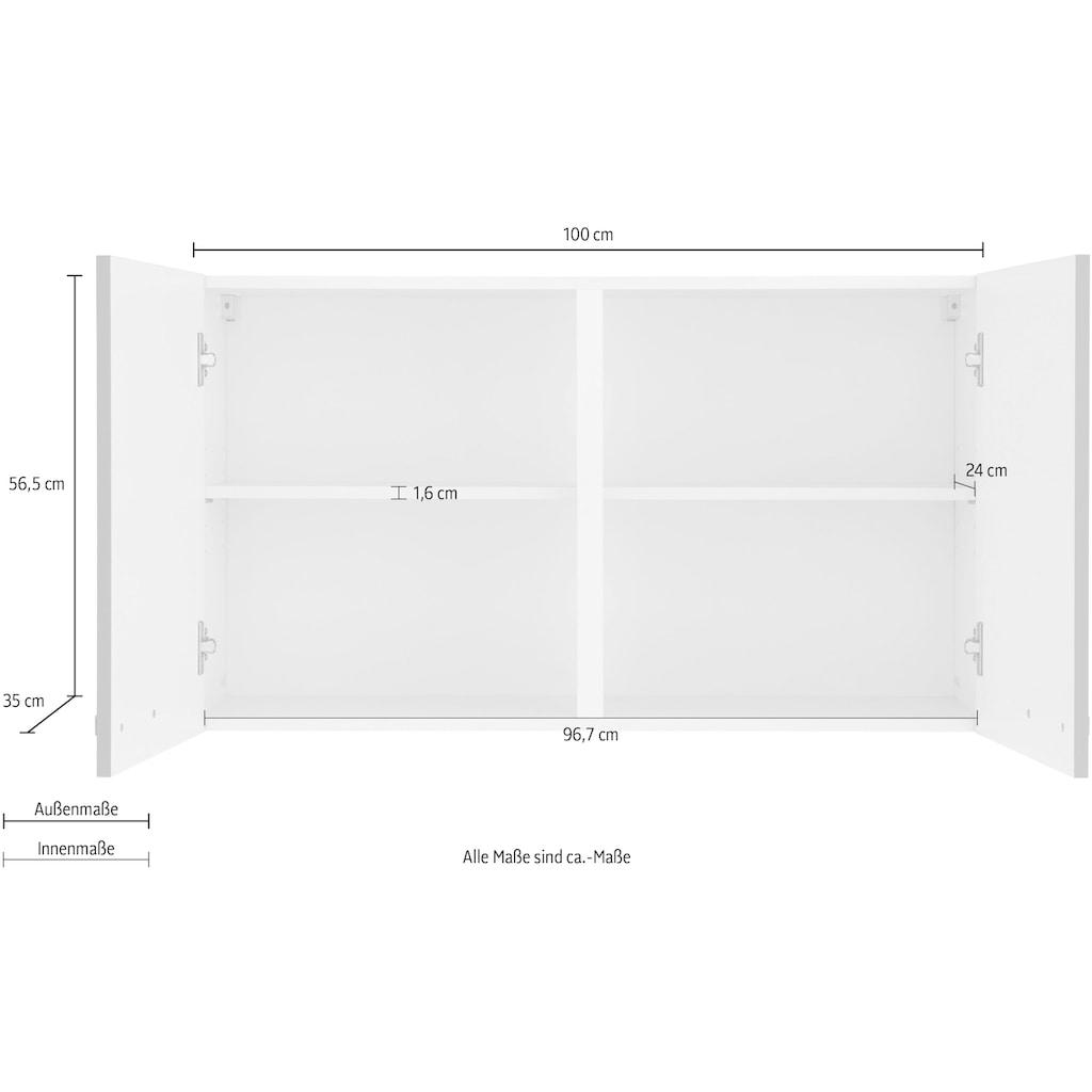 wiho Küchen Hängeschrank »Kansas«, 100 cm breit