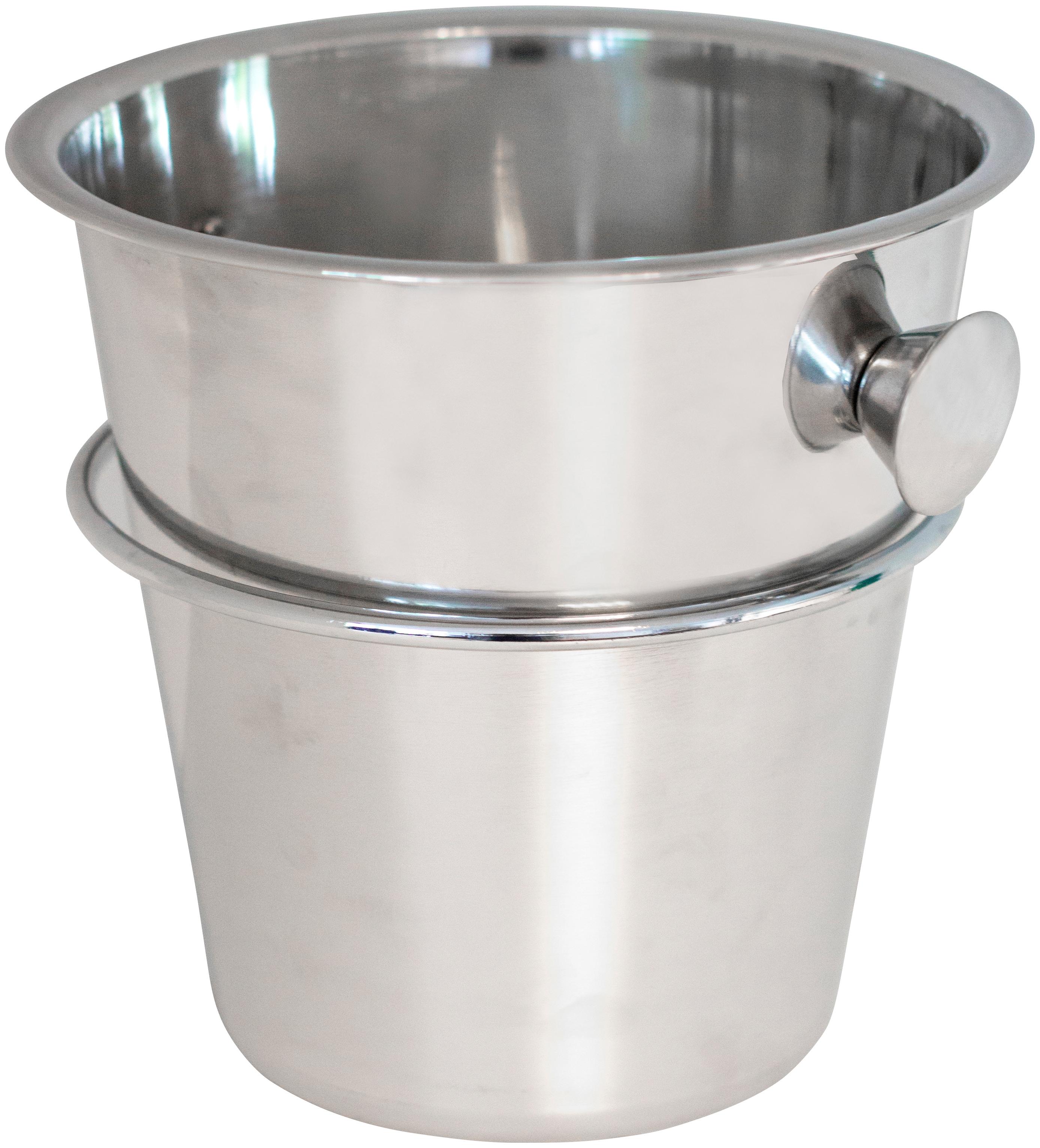 deVries Sektkühler, ØxH: 23x29 cm, inkl. Halterung für Strandkörbe silberfarben Sektkühler Baraccessoires Weinaccessoires Küchenhelfer Haushaltswaren