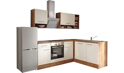 RESPEKTA Winkelküche »Lübeck«, mit E-Geräten, Stellbreite 220 x 172 cm kaufen