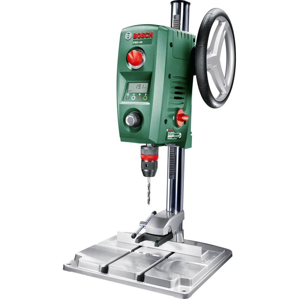 BOSCH Tischbohrmaschine PBD 40 grün Bohrmaschinen Werkzeug Maschinen