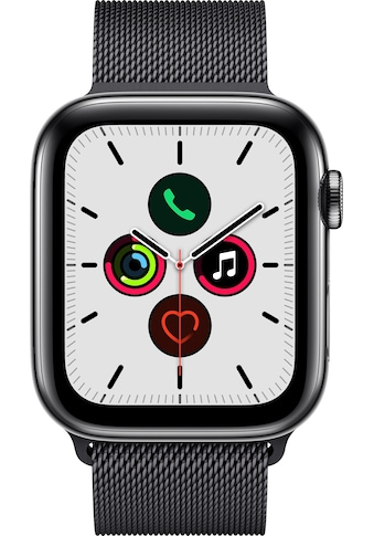 Apple Series 5 GPS + Cellular, Edelstahlgehäuse Milanaise Armband 44mm Watch (Watch OS 6) kaufen