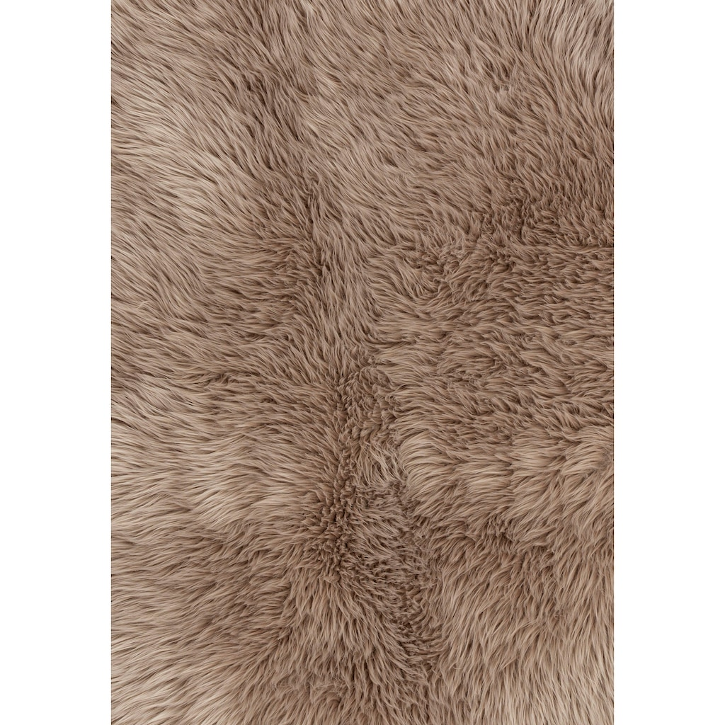ASTRA Fellteppich »Mia«, rechteckig, 50 mm Höhe, Kunstfell, waschbar, Wunschmass, Wohnzimmer