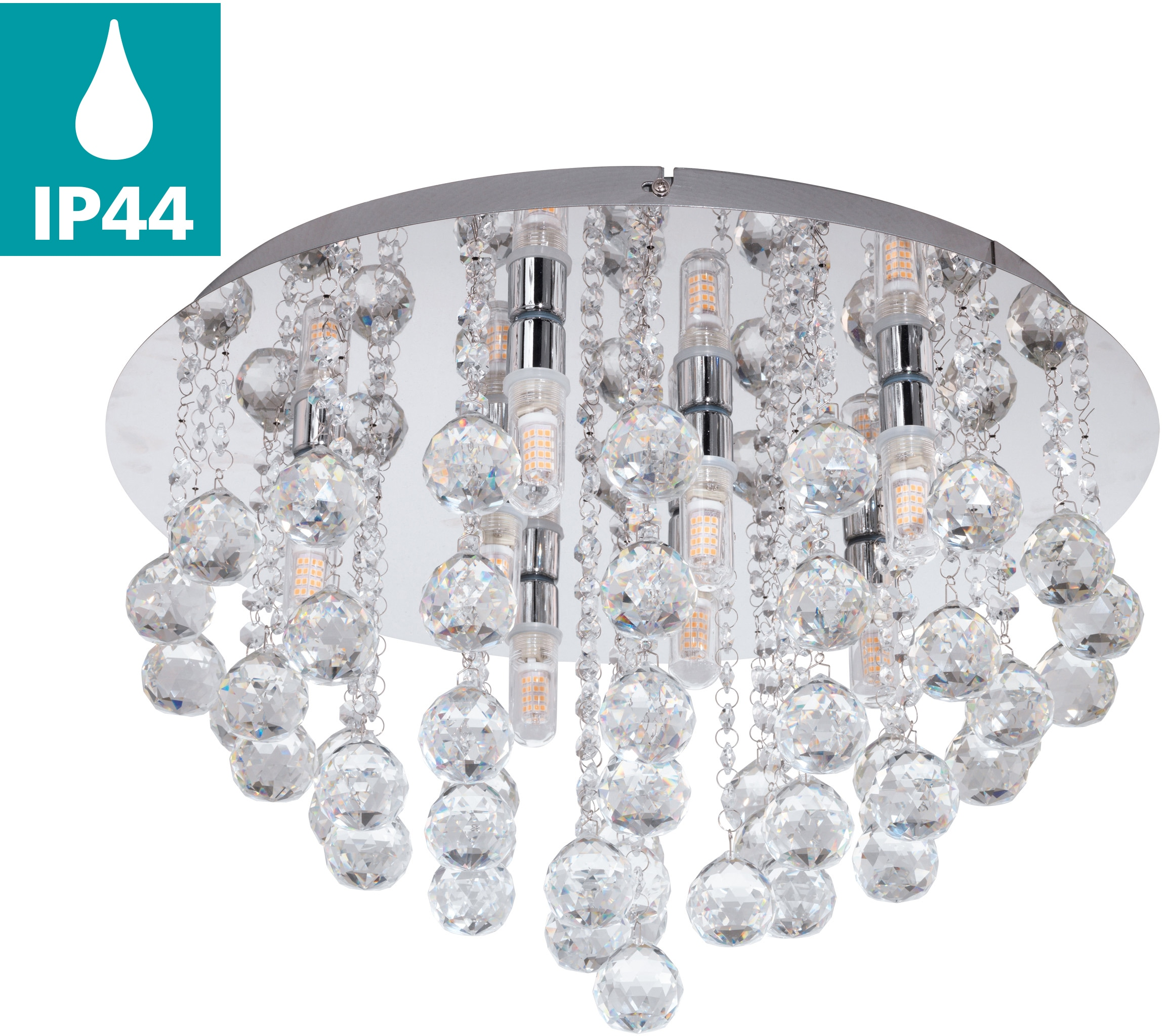EGLO LED Deckenleuchte ALMONTE, G9, Warmweiß, LED Deckenlampe