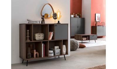 SalesFever Bücherregal, in moderner walnussfarbe kaufen